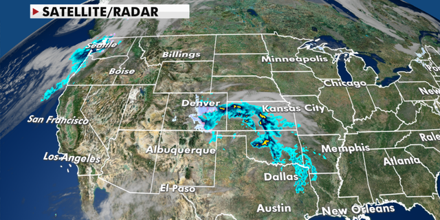 Current radar conditions in the central and western U.S. (Fox News)