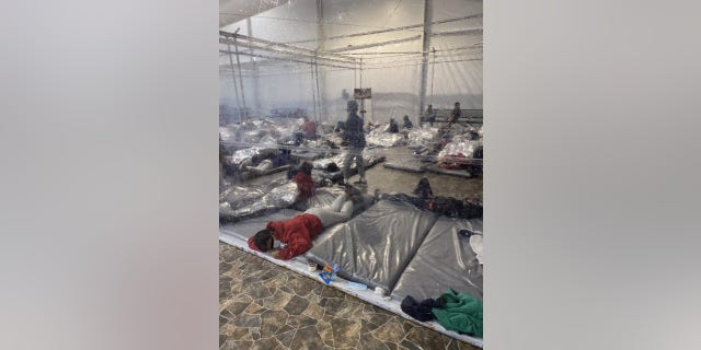A photo of a CBP overflow facility for migrants in Donna, Texas. (Office of Rep. Henry Cuellar, D-Texas)
