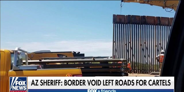 Arizona sheriff highlights incomplete border wall sections and says cartels are taking advantage.