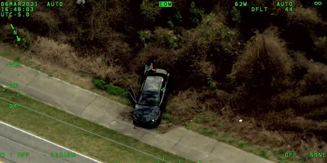 Investigators said the suspect vehicle spun out and rolled over during a high-speed chase in Deltona on Saturday.