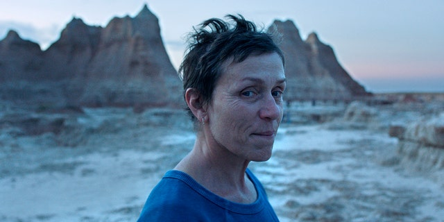 Frances McDormand in a scene from the film 'Nomadland' directed byChloé Zhao,