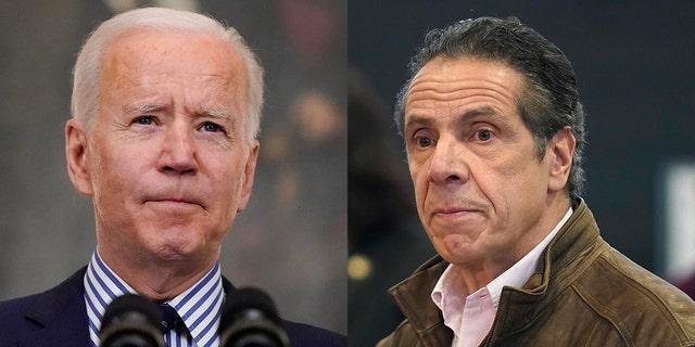 President Biden and New York Gov. Andrew Cuomo.