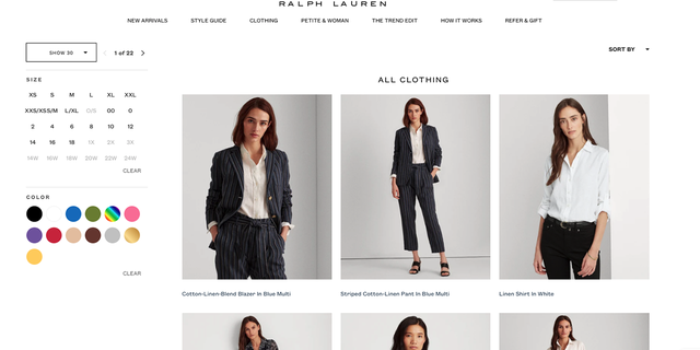 The Lauren Look's website, pictured. Much like Rent the Runway, chosen selections are shipped out to the shopper to rent, try or buy.