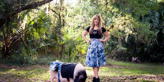 Doreen Burke founded Snort Life, a pig clothing company after she realized her pet pig Rosie was too big for conventional pet clothing.