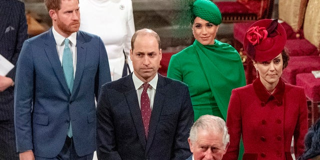 ハリー王子, Duke of Sussex, メーガン, サセックス公爵夫人, Prince William, Duke of Cambridge, Catherine, Duchess of Cambridge and Prince Charles, Prince of Wales attend the Commonwealth Day Service 2020 行進に 9, 2020, in London, England.