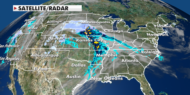 Current radar conditions in the U.S. (Fox News)