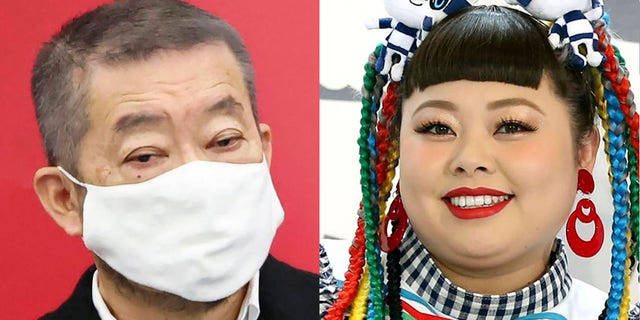 Hiroshi Sasaki (left)creative director for the Tokyo Olympics' opening and closing ceremonies, said on Thursday he plans to resign for demeaning comments he made about entertainerNaomi Watanabe.