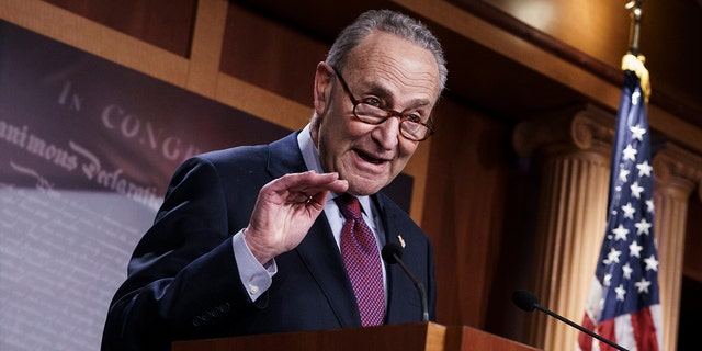 Senate Majority Leader Chuck Schumer, D-N.Y., is seen in Washington, March 6, 2021. (Associated Press)
