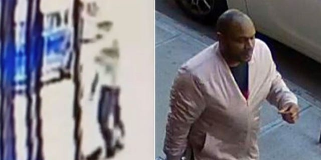 Images provided by NYPD show attack and suspect, who was later identified as Brandon Elliot (NYPD)