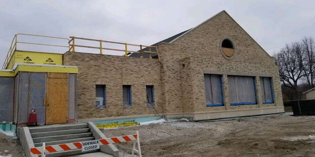 Vandalism at St. Francis of Assisi Parish in Milwaukee (Credit: Fr. Michael Bertram)
