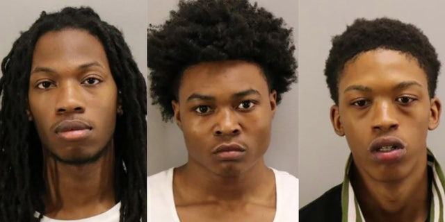From left: Ahmon Jahree Adams, 22; Nyquez Tyvon Baker, 18; and Devon Maurice Dorsey, 20. (Virginia Beach Police Department)