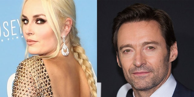 Lindsey Vonn and Hugh Jackman were seen belting out the lyrics to Justin Timberlake's 'Can't Stop the Feeling!' on Monday.