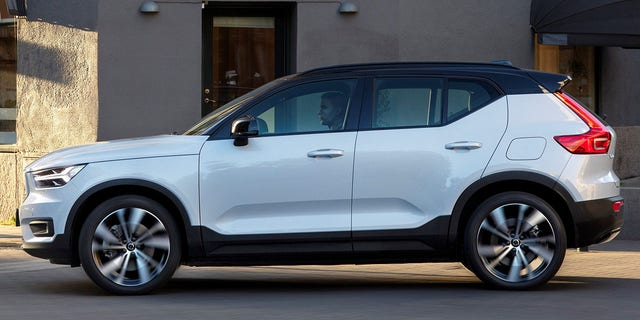 The XC40 Recharge has a more traditional SUV roofline.