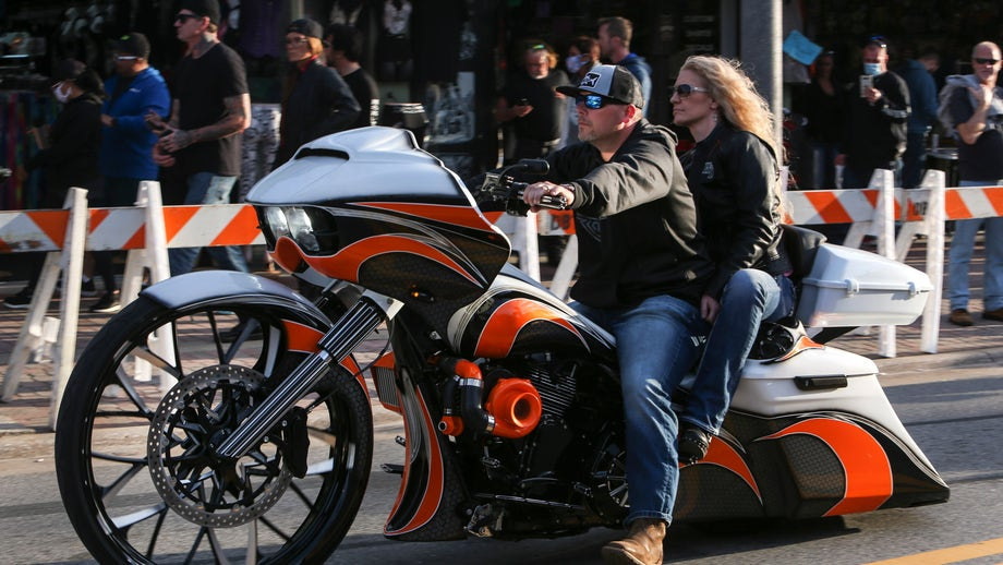 FULL SPEED AHEAD! 300,000 bikers ride into open for business Florida town