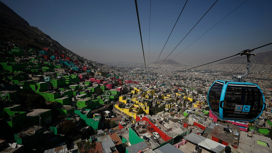 Mexico City opens cable car line designed to stretch 6 miles, the latest in Latin America