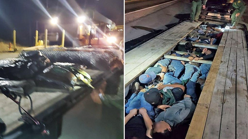 Border Patrol agents discover men, kids packed into trailer at U.S.-Mexico border