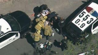 Los Angeles police officer shot in 'gun battle' with burglar, suspect also shot and in custody