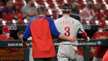 Phillies' Bryce Harper hit by pitch in face, 'feels good'