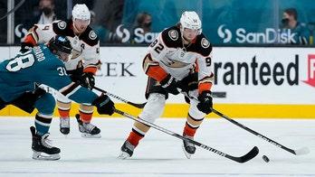 Stolarz has 46 saves as Ducks beat Sharks 4-0