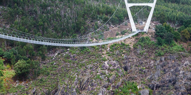 The 1693 foot bridge opened to residents on Thursday and will open to tourists on Monday.