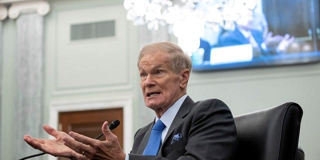 سناتور سابق بیل نلسون ، مدیر تازه انتصاب شده ناسا ، در جریان جلسه استماع کمیته تجارت ، علوم و حمل و نقل سنا چهارشنبه ، 21 آوریل 2021 ، در کپیتول هیل در واشنگتن سخنرانی کرد.  (Saul Loeb / استخر از طریق AP)