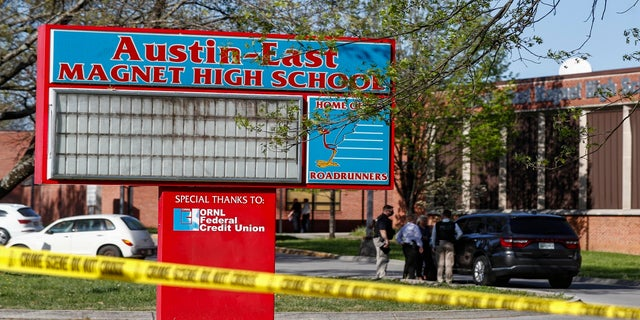 The Austin-East Magnet High School won't hold classes Tuesday or Wednesday. (AP)