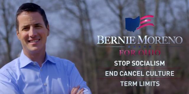 Cleveland businessman Bernie Moreno announces his Republican Senate run in Ohio in a new campaign video, on April 6, 2021
