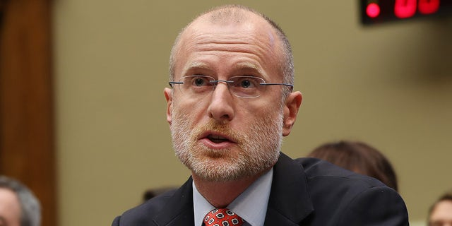 WASHINGTON, DC - DECEMBER 05: Federal Communication Commission Commissioner Brendan Carr testifies before lawmakers in December 2019. (Photo by Chip Somodevilla/Getty Images)