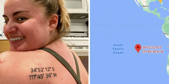 Bri Pritchett decided to commemorate the fun trip by getting the coordinates for Sedona, Ariz. tattooed on her shoulder– though things didn't exactly go according to plan.