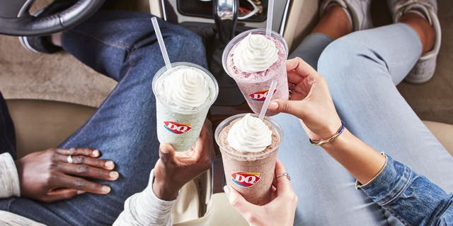 Dairy Queen's Chip Shake Trio includes a Choco Hazelnut Shake, a Mint Chip Shake and Raspberry Chip Shake. (Dairy Queen)