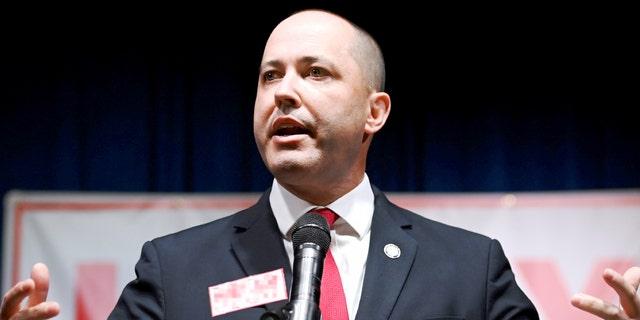 Attorney General of Georgia Christopher M. Carr gives a speech in Atlanta, Georgia, Nov. 3, 2020.