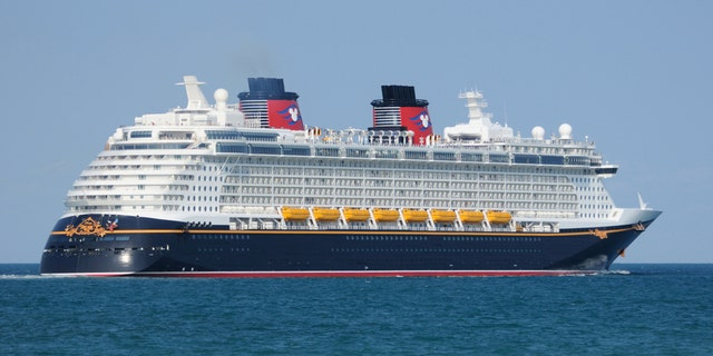 Port Canaveral, Florida, USA - May 12, 2011: Disney Cruise Line's Disney Dream heads to sea from Port Canaveral. The ship was put into service in 2011.