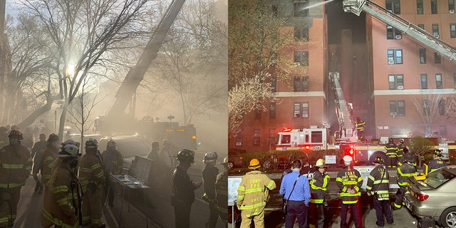 Photos of the fire, which broke out inside an apartment and spread to the cockloft in the 150-unit apartment building
