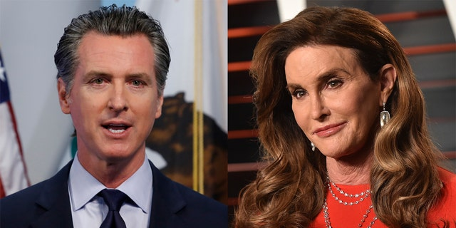 Current Calif. gov. Gavin Newsom (left) could face off against Caitlyn Jenner (right) in an upcoming recall vote.