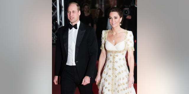 Catherine, Duchess of Cambridge and Prince William, Duke of Cambridge attend the EE British Academy Film Awards 2020 at Royal Albert Hall on February 02, 2020, in Londen, Engeland.