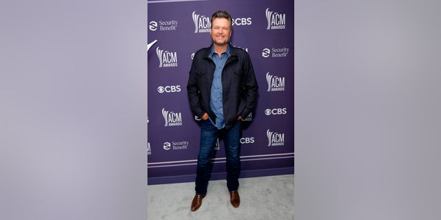 Blake Shelton hits the red carpet at the 56th Academy of Country Music Awards at the Grand Ole Opry on April 18, 2021, in Nashville, Tenn. (Photo by Jason Kempin/ACMA2021/Getty Images for ACM)