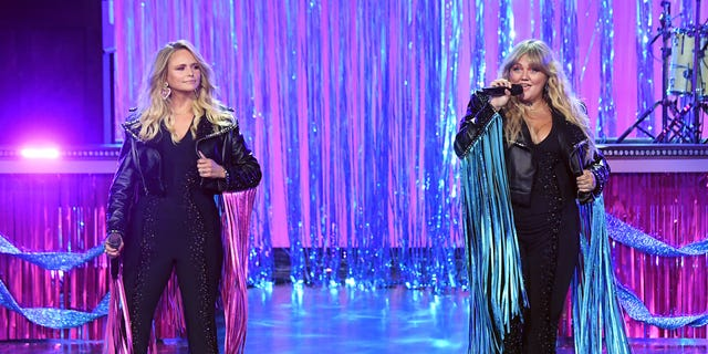 Miranda Lambert and Elle King perform onstage at the 56th Academy of Country Music Awards at the Grand Ole Opry on April 18, 2021 in Nashville, Tenn. (Photo by Kevin Mazur/Getty Images for ACM)