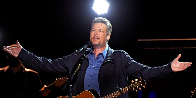 Blake Shelton performs onstage at the 56th Academy of Country Music Awards at the Grand Ole Opry on April 18, 2021, in Nashville, Tenn. (Photo by Kevin Mazur/Getty Images for ACM)