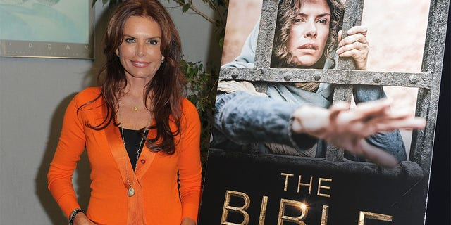 Executive producer Roma Downey (Roma Downey) participates in the special event of the historical