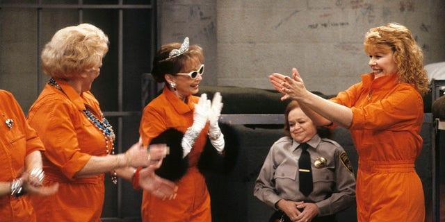 Gloria Henry (center) with Rose Marie (left) and Ilene Graff in 'Mr. Belvedere'.