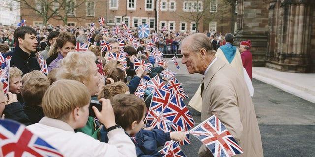 Prince Philip, Duke of Edinburgh during a visit to Hereford, UK, May 1996.