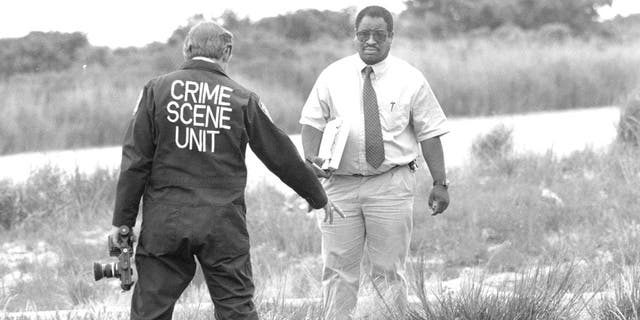 Serial killer Joel Rifkin led cops to the skeleton of one victim at the outskirts of New York City's Kennedy International Airport. June 27, 1993.