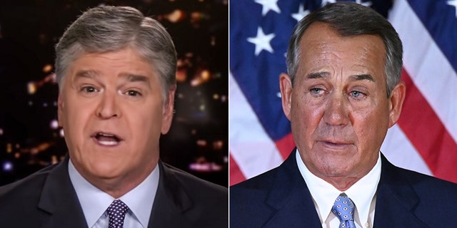 """Fox News host Sean Hannity blasted Former Speaker John Boehner as """"the worst speaker in the history of the Republican party"""" who """"accomplished nothing of significance"""" on Friday."""