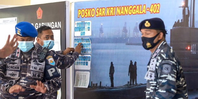 Rescuers continued an urgent search Friday for an Indonesian submarine that disappeared two days ago and has less than a day's supply of oxygen left for its crew.
