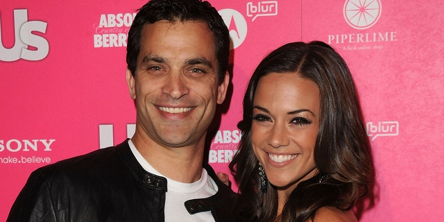 And actress and singer Jana Kramer, right, said she was 'annoyed' by actor Johnathon Schaech, left, sharing and tagging her in his social media post. (Photo by Jason Merritt/Getty Images)