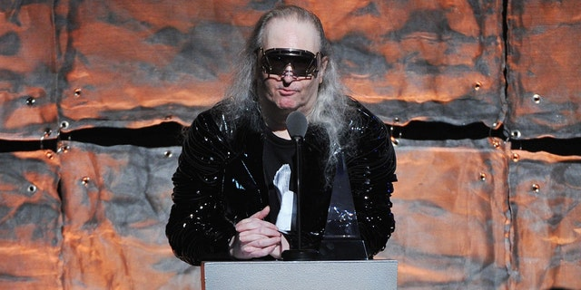 Inductee Jim Steinman speaks onstage at the Songwriters Hall of Fame 43rd Annual induction and awards at The New York Marriott Marquis on June 14, 2012 in New York City. Steinman reportedly died at age 73.