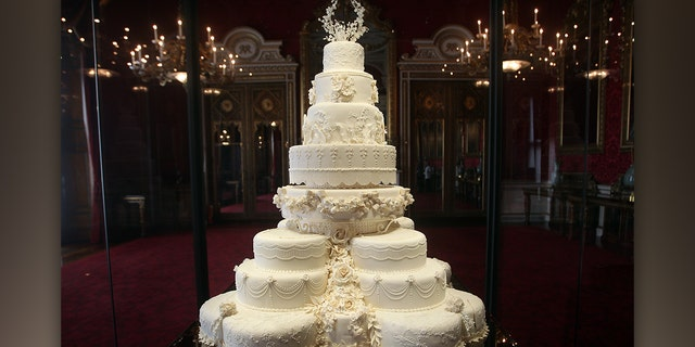 The Duke and Duchess of Cambridge's royal wedding cake was an eight-tiered, three-foot-tall traditional fruit cake.