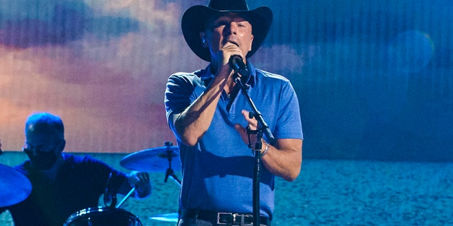 Kenny Chesney performed 'Knowing You' at the Academy of Country Music Awards. (Photo by Brent Harrington/CBS via Getty Images)