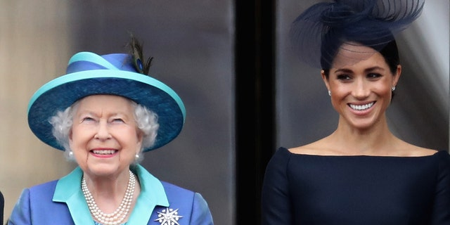 It's been reported that Queen Elizabeth II 'understands' why Meghan Markle was unable to attend Prince Philip's funeral. (Photo by Chris Jackson/Getty Images)