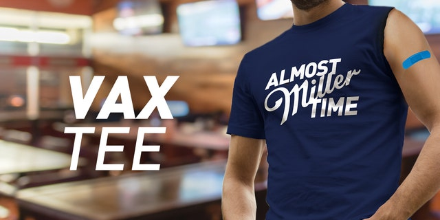 "Miller Lite released $10 ""Vax Time"" t-shirts with only one sleeve, so wearers can more easily get their COVID-19 vaccine."